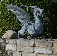"I WANT THIS!!!  William Holland; Metal, 2012, Sculpture ""Dragon Reborn"""