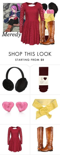 """""""DM nerds; Fairy Tail"""" by aksmasads ❤ liked on Polyvore featuring UGG Australia, Oasis, Elsa Peretti, Pinko, ONLY and Frye"""