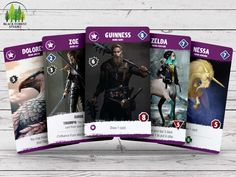 Black Forest Studio is raising funds for CRAVE. A strategic deck building card game for players. Crave is a dynamic, re-imagined deck builder in a modern fantasy setting, featuring vampires and other enchanted creatures. Game Card Design, Board Game Design, Game Cards, Card Games, Military Cards, Building A Deck, Unique Cards, Game Ui, Game Design