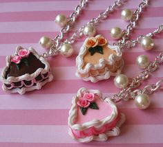 *NEW* Heart Cake Necklaces by FatallyFeminine, via Flickr