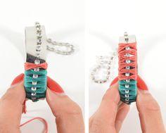 studs and pearls: diy: Colorblocked Rhinestone Bracelet