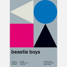 Beastie Boys Poster 42x59.4 #geometry #music #colors