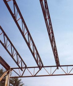 I broke into iron busting rods on bridge decks. Signage Board, Tin Shed, Steel Structure Buildings, Steel Frame Construction, Roof Trusses, Metal Roof, Carport Ideas, Foundation, Industrial