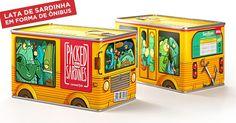Lata de sardinha em formato de ônibus é tão criativa que até bate uma bad!