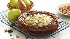 Torta brownie com peras