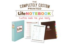 The Life Notebook - Custom Printed WHAT YOU GET: > 1 Binder (only for the letter size / NO BINDER comes with A5 size) > 14 tabbed dividers >