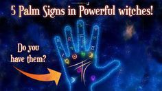 Palm signs which show that you are born a powerful Witch. Do you have them? Look closer and see the pictures to discover what they mean!