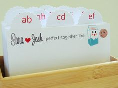 Seating cards and box  http://www.etsy.com/listing/75751296/wedding-guest-book-box-escort-cards