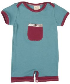 Button pocket romper by Adooka Organics #organic #madeinUSA #babyclothes