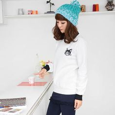Buy '59 Seconds – Inset Collar Cat-Print Pullover' with Free International Shipping at YesStyle.com. Browse and shop for thousands of Asian fashion items from Hong Kong and more!