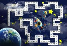 Printable Board Games, Theme Days, Primary Education, Earth From Space, Scandal Abc, Math Activities, Mathematics, More Fun, Classroom