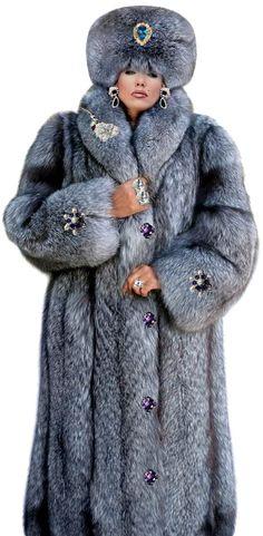 Elegant, luxurious and beautiful ladies fur coat