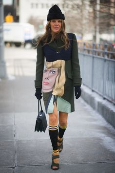 Another day, another face for Anna Dello Russo.