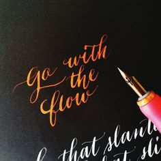 Go with the flow, testing this copper ink #calligrafikas #dippen #nibs