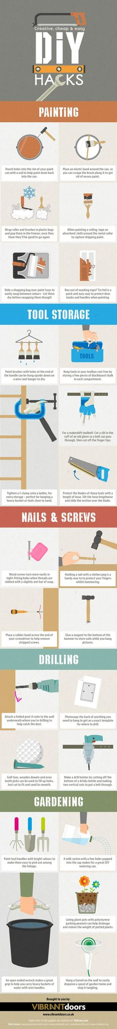 Quick DIY Tips, Tricks and Life Hacks for Home Improvement Problems | Vibrant Doors Blog