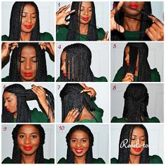 Pleasant 12 Steps Box Braids Hairstyle Tutorial Swimming Style And Updo Hairstyles For Women Draintrainus