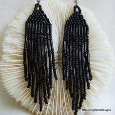 Billedresultat for beaded fringe earrings