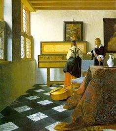 Johannes VERMEER - La leçon de musique; 1662 - 1664 - Windsor Castle