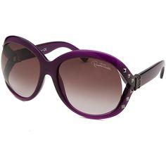 Roberto Cavalli Women's Balsamina Oversized Purple Sunglasses... (105 CAD) ❤ liked on Polyvore featuring accessories, eyewear, sunglasses, purple, mirrored glasses, mirrored lens sunglasses, mirror glasses, mirrored sunglasses and over sized sunglasses