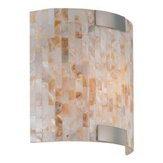 Schale Polished Steel One-Light Wall Sconce