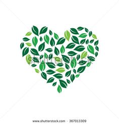 Heart formed by leaves. Vector logo design - Buy this stock vector and explore similar vectors at Adobe Stock Vector Logo Design, Vector Art, Vector Icons, Earth Logo, Plant Logos, Tree Logos, Leaf Logo, Leaves Vector, Cool Logo