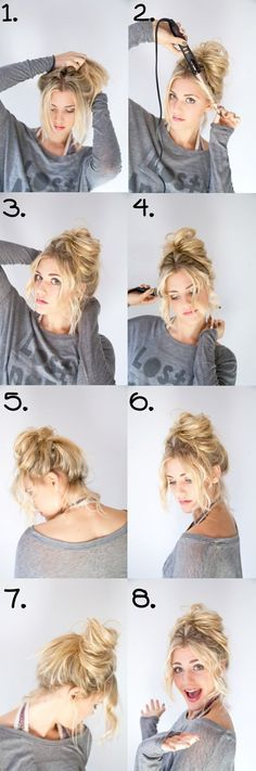 Popular Hairstyles Trends 2013~2014 for Thin Hair with Extensions Hair messy updo hairstyles