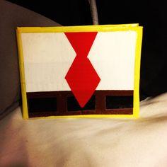 Spongebob Squarepants Duct Tape Wallet with Suit & Tie Design on the Front. $5.00