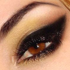 Very rock glam makeup