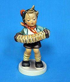 """Hummel Accordion Boy Figurine HU445 - Hummel Reference Number 155849 - Hummel Figurine Number 185 - Size 5.25"""""""