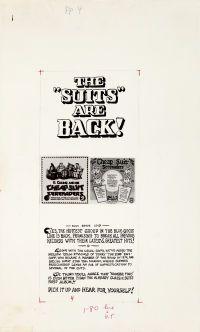 """Original Comic Art:Illustrations, Robert Crumb """"The 'Suits' Are Back"""" Ad Illustration Original Art(Blue Goose Records, 1976)...."""
