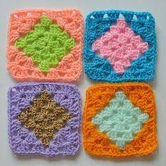Ollie & Bella   For the love of crochet   DIAMOND GRANNY SQUARE