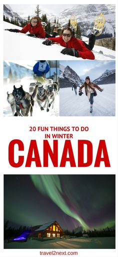 20 Fun Things to Do in Canada in Winter | Ski CanadIf you're a skier or snowboarder, I don't need to tell you about the quality of the snow in Canada, the stunning alpine scenery, the long runs and uncrowded slopes where you can ski a whole run and not see a soul.a.