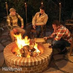 Building a Fire Pit - Not the sexiest fire pit, but certainly built to last!
