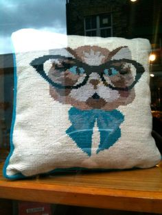 """My friend saw this in Shoreditch, he response """"In Shoreditch even the cushions are designed for hipsters..."""" ;)"""