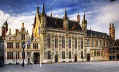 Ayuntamiento de Brujas, plaza Burg