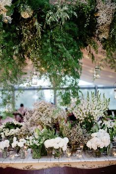 Floral installations for retail stores