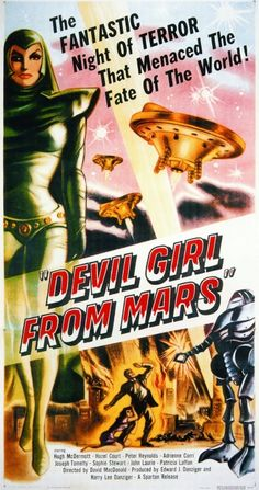 1954 Vintage Movie Poster: Devil Girl from Mars