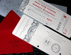 You can tear the RSVP card off like a ticket stub!