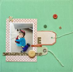 @Ashley Harris created this fun layout using @Fancy Pants Designs Happy Go Lucky collection!