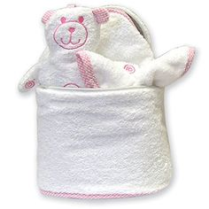 Shop Trend Lab Oval Bath Bag in Pink Trim, Plus Hooded Towel, Mitt and Wash Cloth Terry Velour online at lowest price in india and purchase various collections of Diaper Bags in Trend Lab brand at grabmore.in the best online shopping store in india