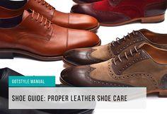 Proper shoe care feature image Men's Leather, Leather Shoes, Tuxedo, Oxford Shoes, Dress Shoes, Lace Up, Suits, Stylish, Image