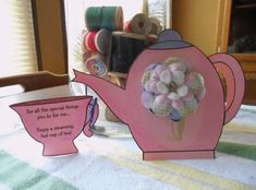 Mother S Day Teapot Card Template Mothers Day Card Template Mother S Day Diy Diy Mother S Day Crafts