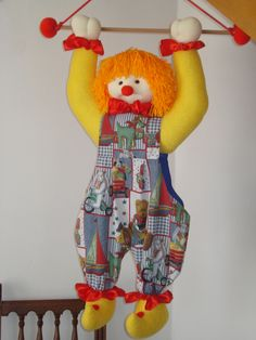 Payaso guarda-calcetines o guarda-pijamas