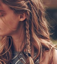 26 Boho Hairstyles With Braids Bun Updos Other Great New Stuff - hairstyles trenzas boho hairstyles trenzas cascada Plaits Hairstyles, 2015 Hairstyles, Pretty Hairstyles, Hairstyles Pictures, Small Face Hairstyles, Messy Braided Hairstyles, Boho Hairstyles For Long Hair, Braided Buns, Bohemian Hairstyles