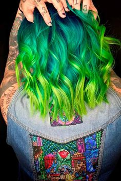 You should definitely try green ombre hair if you love experimenting! It looks extraordinary and charming when combined with dark hair and fair complexion. But it does not mean that your stylist can't help you if your hair is light and you like getting tan. There are green shades that will work you, too!