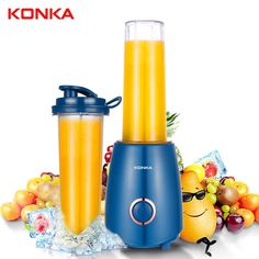 Buy KONKA Heavy Duty Commercial Grade Automatic Timer Blender Mixer Juicer Fruit Food Processor Ice Smoothies BPA FREE at jonaki.com! Free shipping to 185 countries. 45 days money back guarantee. Best Smoothie Blender, Juicing With A Blender, Good Smoothies, Fruit Smoothies, Fruit Blender, Fruit Milkshake, Milkshake Maker, Fruit And Vegetable Juicer, Citrus Juicer