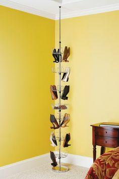 Floor-To-Ceiling Chrome Shoe Spinner by Whitmor on @HauteLook
