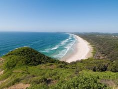 Aerial view over Byron Bay.