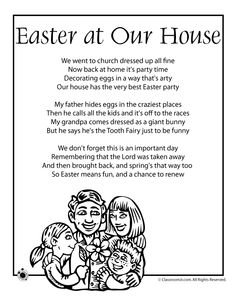 Printable Easter Kids Poems Easter Poem - Easter at Our House – Classroom Jr.