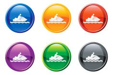 ski jet button royalty free vector art vector art illustration